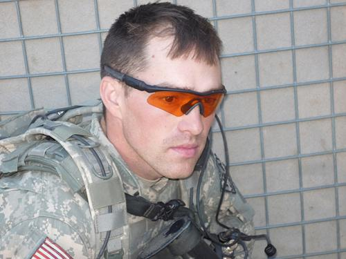 Former Staff Sgt. Clinton L. Romesha in Afghanistan in 2009. When Combat Outpost Keating was attacked and nearly overrun by around 300 enemy fighters, Oct. 3, 2009, Romesha led the efforts to secure the outpost's ammunition supply point, close the entry control point and recover fallen American soldiers. In recognition of his heroism, President Barack Obama will award Romesha the Medal of Honor in a White House ceremony Feb. 11, 2013. (Photo courtesy of Clinton L. Romesha)